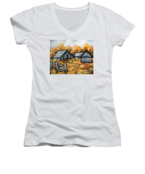 The Barns Women's V-Neck