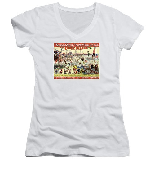 The Barnum And Bailey Greatest Show On Earth The Great Coney Island Water Carnival Women's V-Neck (Athletic Fit)