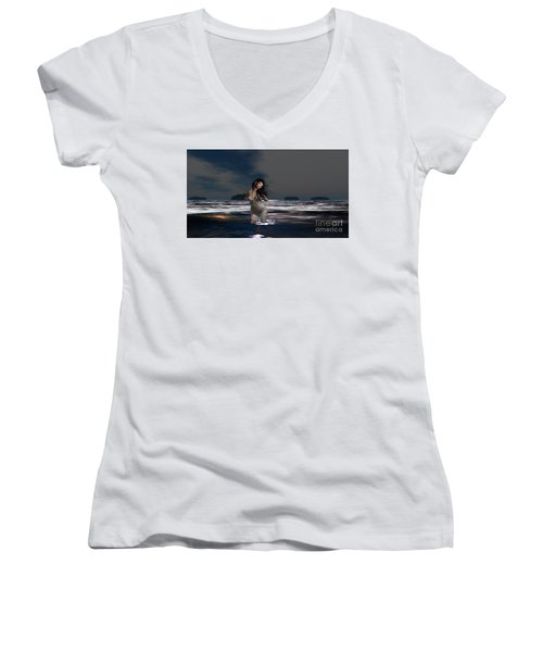 The Beach 5 Women's V-Neck (Athletic Fit)