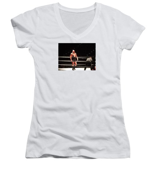 The Big Show Women's V-Neck T-Shirt (Junior Cut) by Paul  Wilford