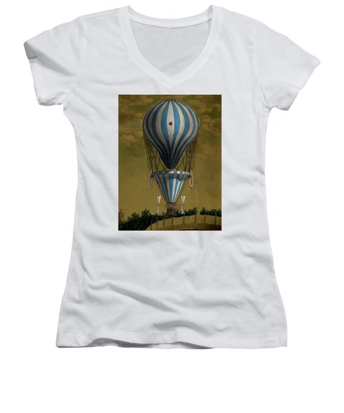 The Blue Balloon Women's V-Neck T-Shirt