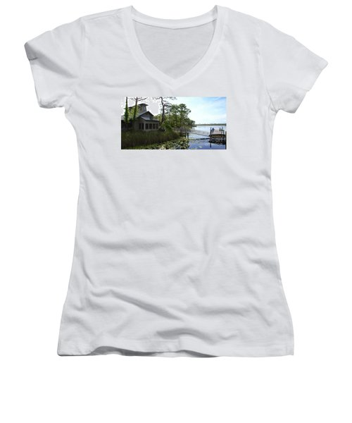 The Boathouse At Watercolor Women's V-Neck (Athletic Fit)