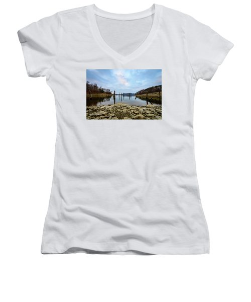 The Bottom Of The Lake Women's V-Neck