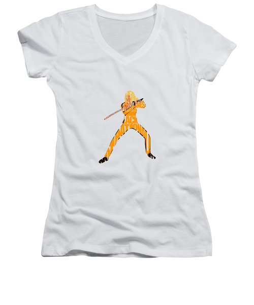 The Bride Women's V-Neck T-Shirt (Junior Cut) by Ayse Deniz