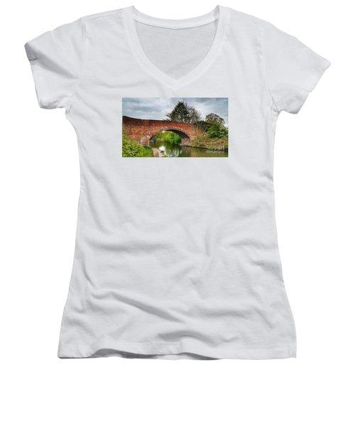 The Bridge Women's V-Neck T-Shirt (Junior Cut) by Isabella F Abbie Shores FRSA