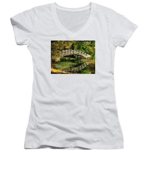 The Bridge Women's V-Neck T-Shirt (Junior Cut) by Martina Thompson