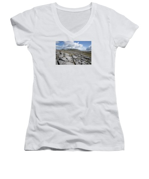The Burren National Park Women's V-Neck (Athletic Fit)