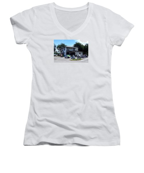 Women's V-Neck T-Shirt (Junior Cut) featuring the photograph The Cabbage Patch by Melinda Saminski