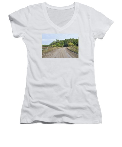 The Causway On Chisolm Island Women's V-Neck
