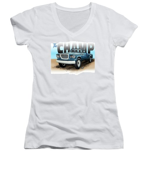 The Champ Women's V-Neck (Athletic Fit)