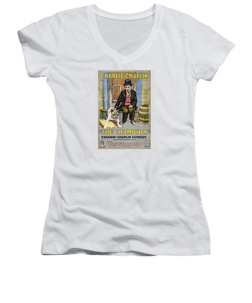 The Champion Chaplin Comedy Women's V-Neck (Athletic Fit)