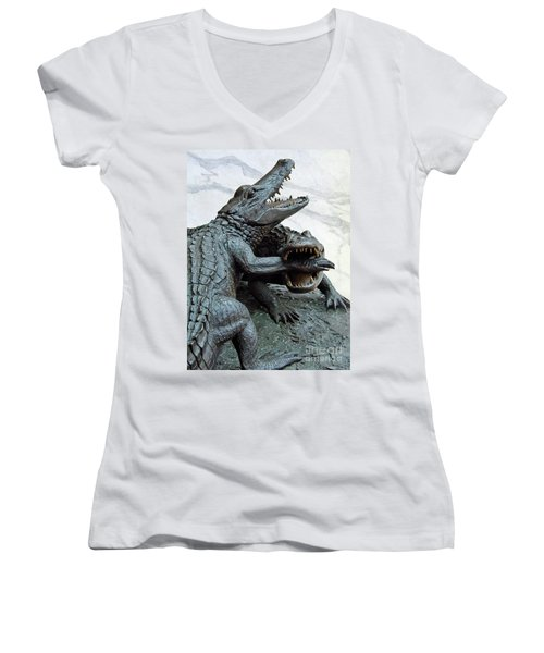 The Chomp Women's V-Neck T-Shirt