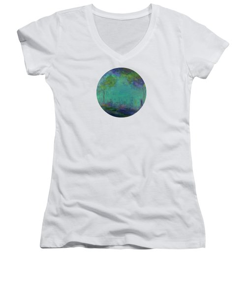 The City In The Distance Women's V-Neck (Athletic Fit)