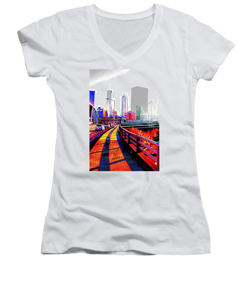 The City  Women's V-Neck