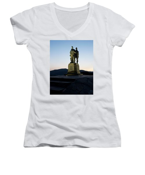 The Commando Memorial Women's V-Neck (Athletic Fit)