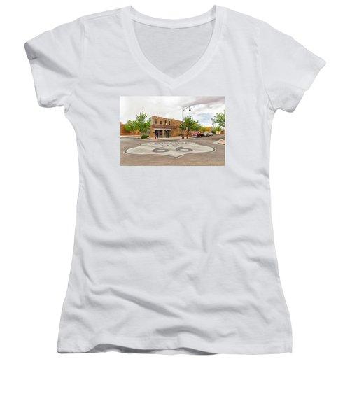 The Corner In Winslow Women's V-Neck T-Shirt