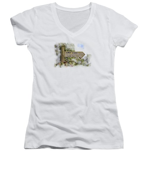 The Cornish Way On Transparent Background Women's V-Neck (Athletic Fit)