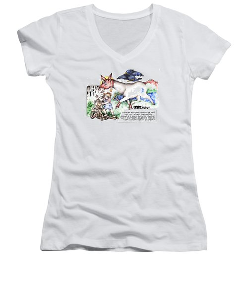 Real Fake News The Cosmograph Foto Women's V-Neck