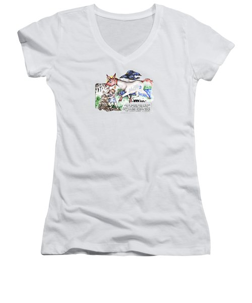Real Fake News The Cosmograph Foto Women's V-Neck (Athletic Fit)
