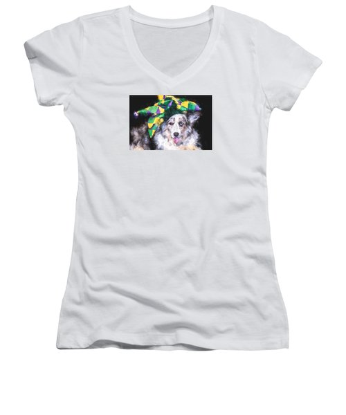 The Court Jester Women's V-Neck (Athletic Fit)