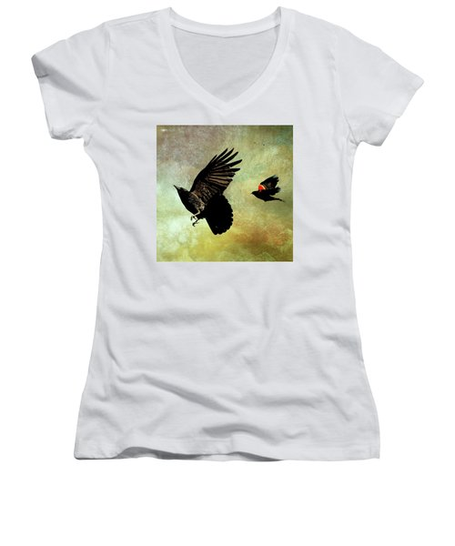 The Crow And The Blackbird Women's V-Neck