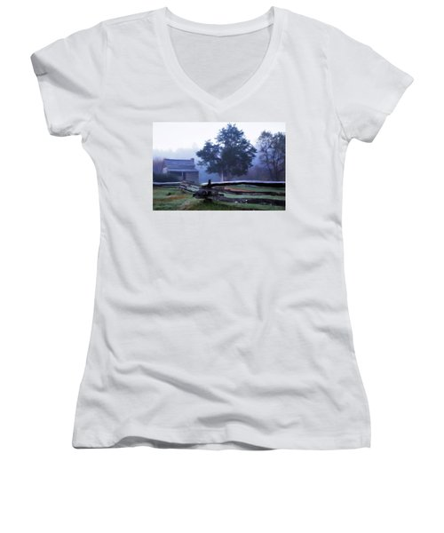The Dan Lawson Place Women's V-Neck T-Shirt (Junior Cut) by Lana Trussell