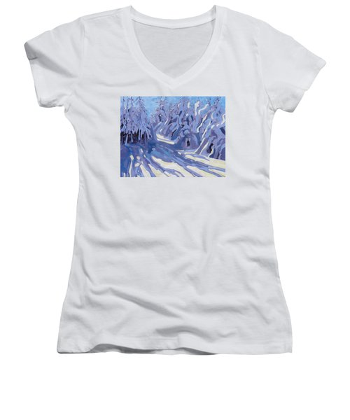 The Day After The Storm Women's V-Neck (Athletic Fit)