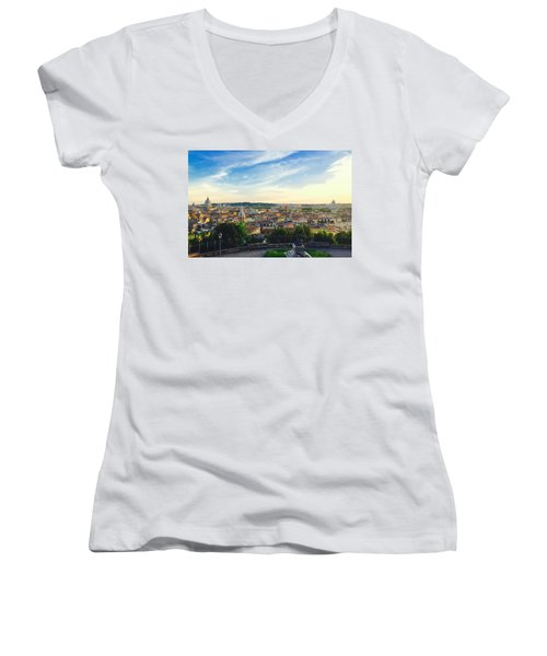The Domes Of Rome Women's V-Neck