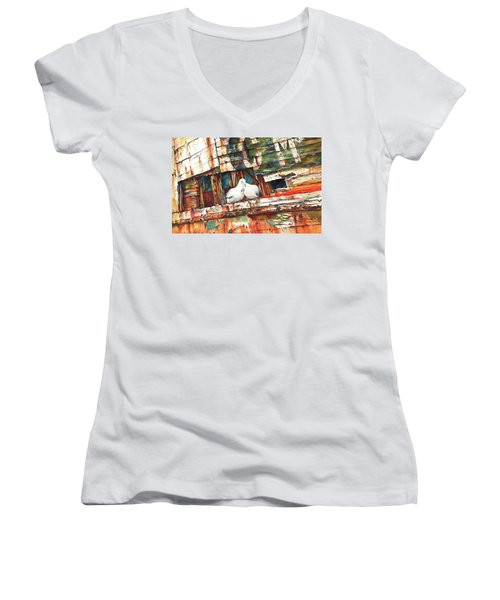 The Dove Boat Women's V-Neck