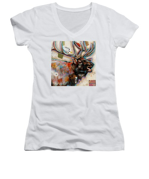 The Elk Women's V-Neck T-Shirt