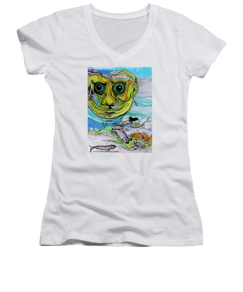 The Face Of Summer Lost Women's V-Neck T-Shirt