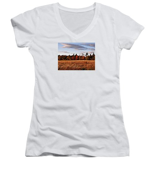 The Field At The Old Farm Women's V-Neck T-Shirt