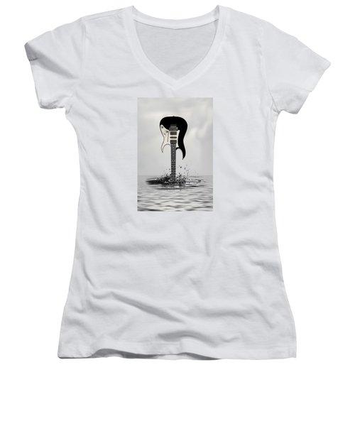 The Final Cut Women's V-Neck T-Shirt (Junior Cut) by Angel Jesus De la Fuente