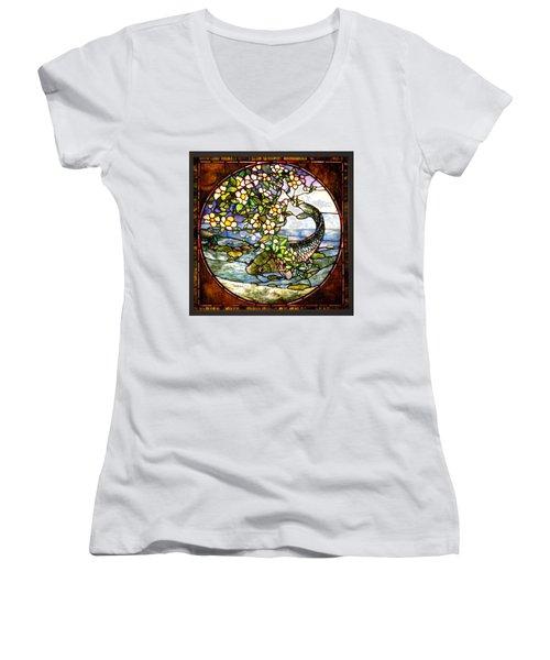 The Fish Women's V-Neck T-Shirt (Junior Cut) by Joseph Skompski