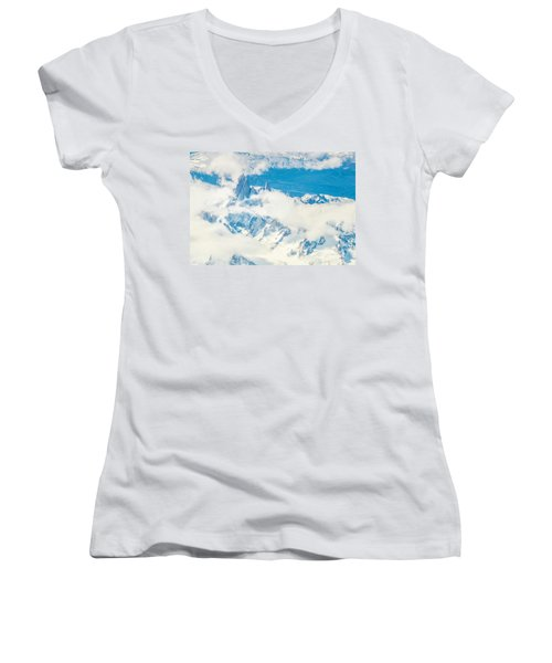 Women's V-Neck T-Shirt (Junior Cut) featuring the photograph The Fitz Roy by Andrew Matwijec