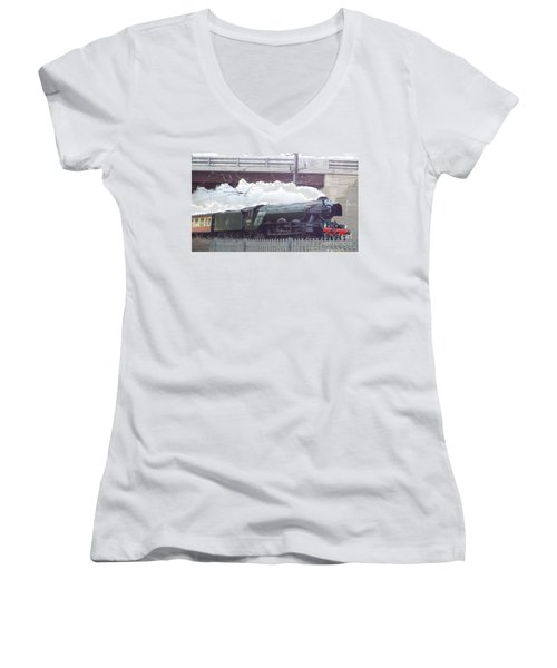 The Flying Scotsman Women's V-Neck T-Shirt