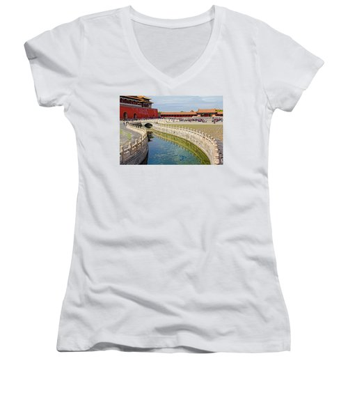 The Forbidden City Women's V-Neck (Athletic Fit)