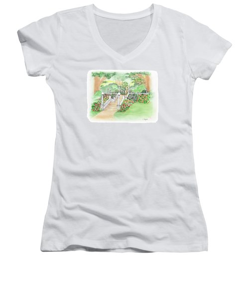 The Fountain Women's V-Neck