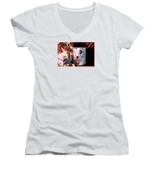 The French Connection Women's V-Neck T-Shirt