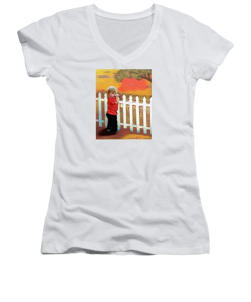 The Garden Women's V-Neck (Athletic Fit)