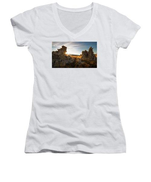 The Gateway Women's V-Neck T-Shirt (Junior Cut) by Bjorn Burton