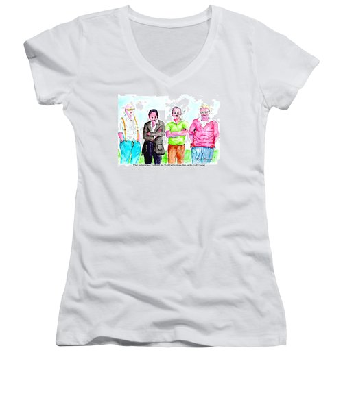 The Golf Course, A Place For Solving Problems Women's V-Neck (Athletic Fit)