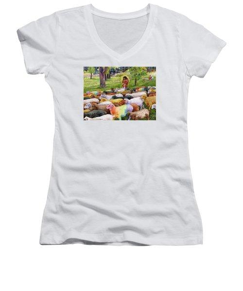 The Good Shepherd Women's V-Neck T-Shirt