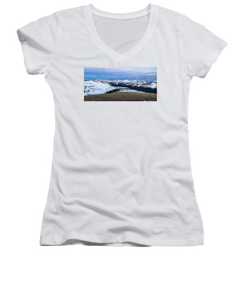 The Gore Range At Sunrise - Rocky Mountain National Park Women's V-Neck (Athletic Fit)