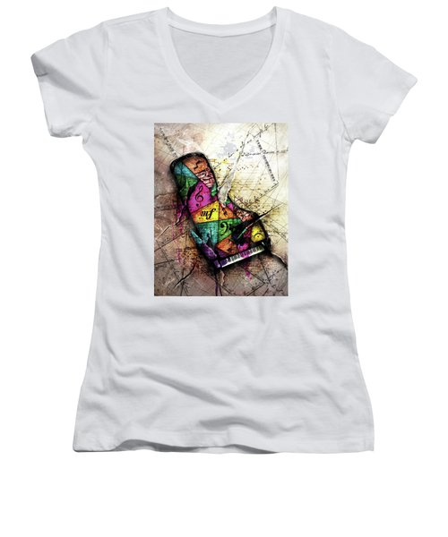 The Grand Illusion  Women's V-Neck T-Shirt (Junior Cut) by Gary Bodnar