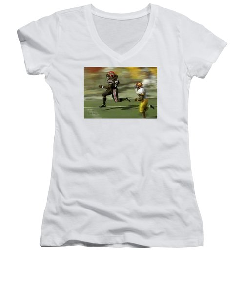 Women's V-Neck T-Shirt (Junior Cut) featuring the photograph The Grand Marshall by Don Olea