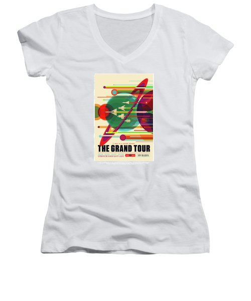 The Grand Tour - Nasa Vintage Poster Women's V-Neck (Athletic Fit)