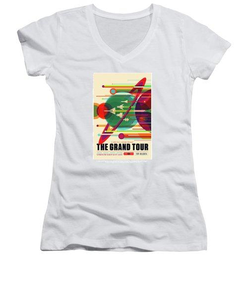 The Grand Tour - Nasa Vintage Poster Women's V-Neck (Athletic Fit)