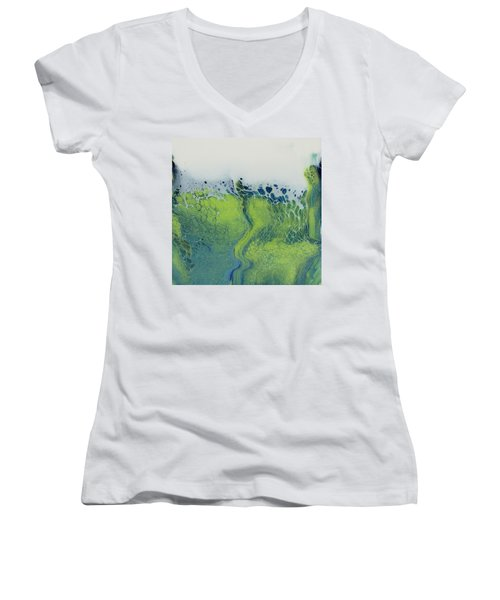 The Green Tides Women's V-Neck (Athletic Fit)