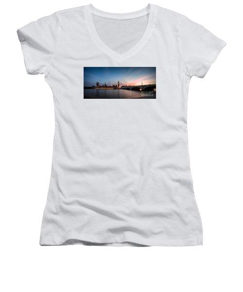 The Guardian Women's V-Neck T-Shirt (Junior Cut) by Giuseppe Torre